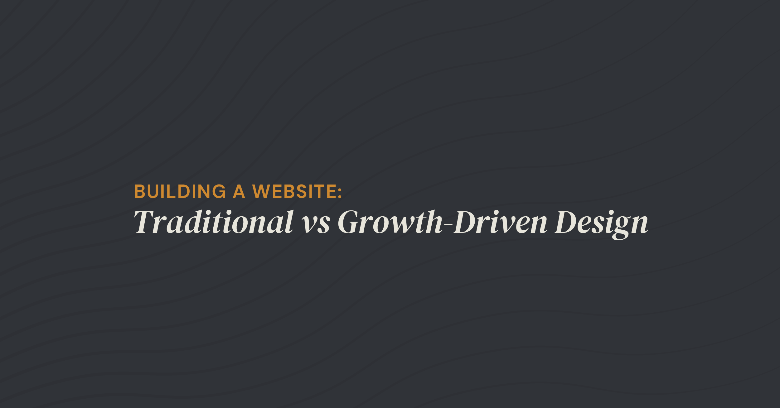 Building a Website: Traditional vs GDD
