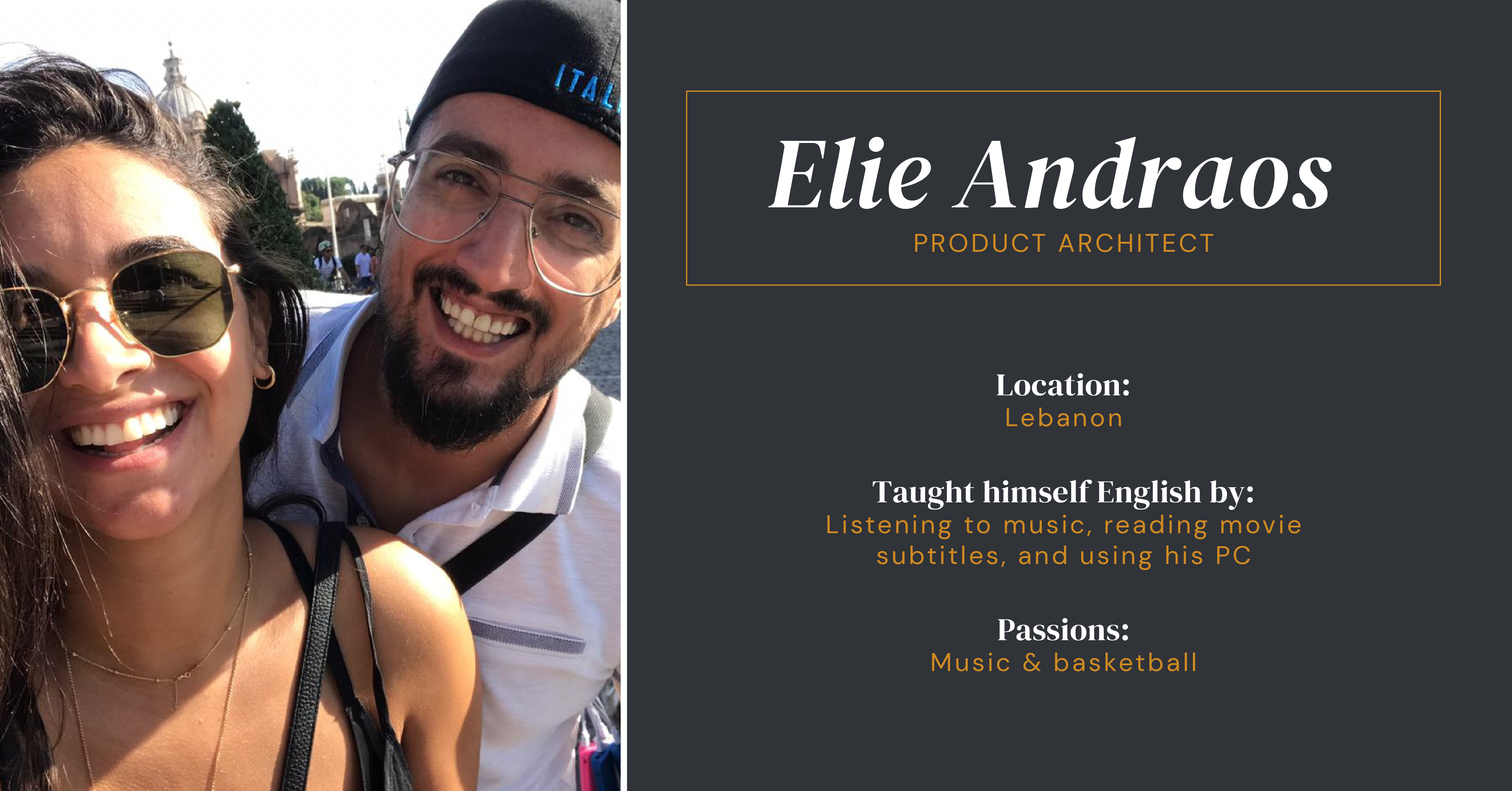 Elie Andraos Product Achitect