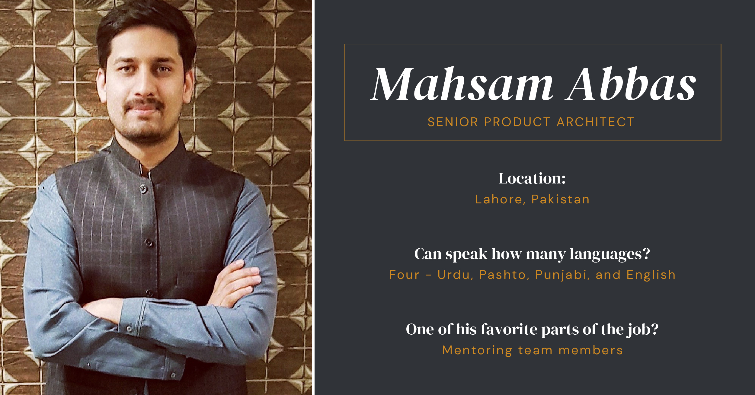 Senior Product Architect Mahsam Abbas