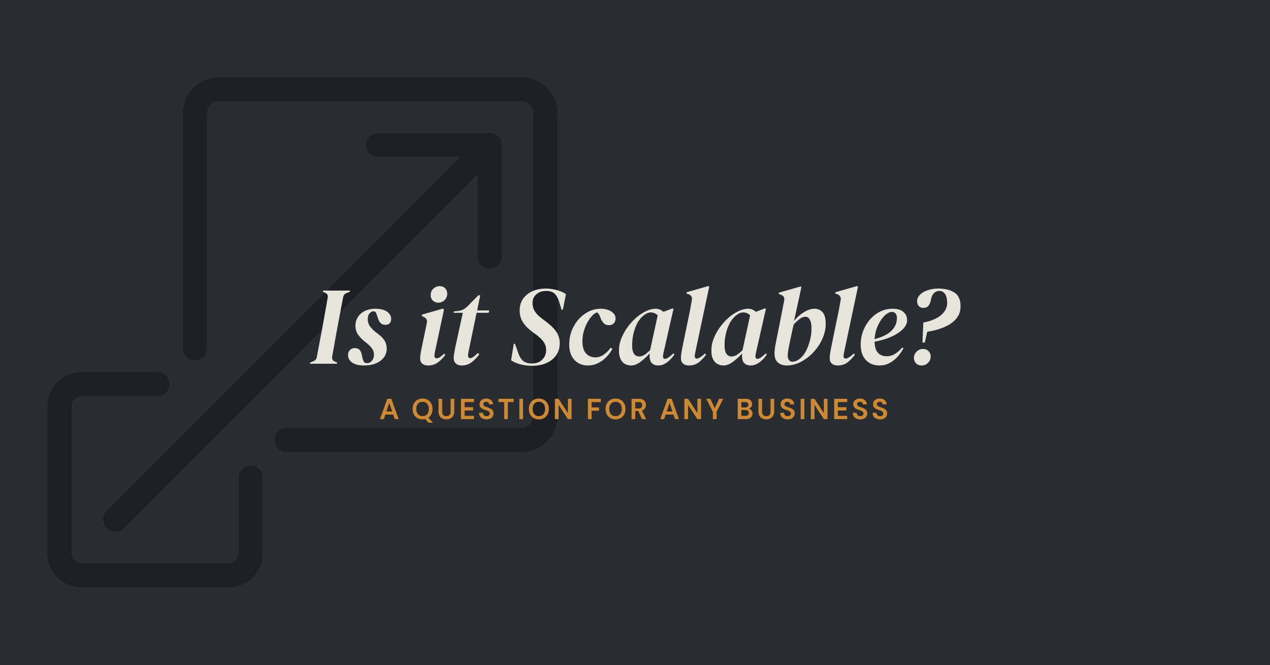 is your strategy scalable