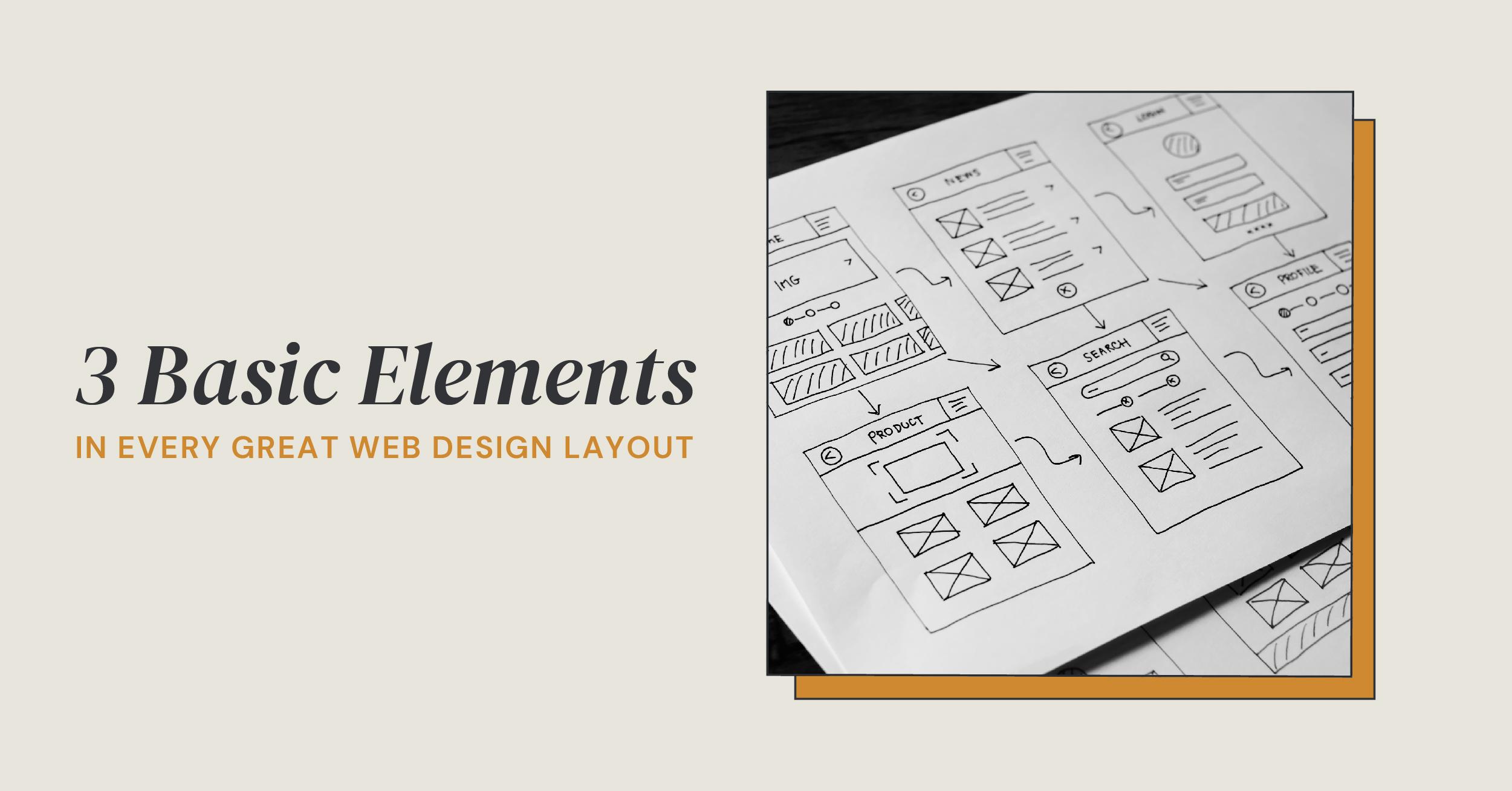 3 basic web design elements